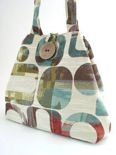modern tote bag handmade handbag shoulder bag diaper by daphnenen