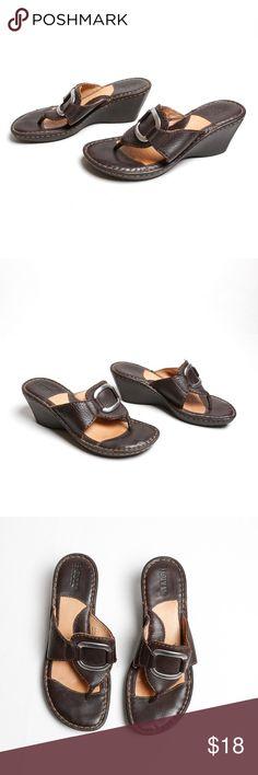 e2f3fff5bef354 Born - Brown Wedge Heel sandals Brown Born wedge heel sandals. Very slight  heel and