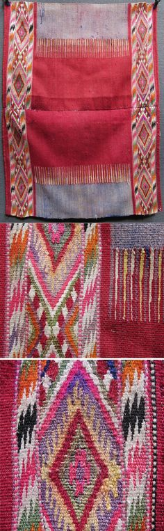 Traditional apron for women, from the Balkans (Muslim Albanian, probably from Kosovo), ca. 1925-1950.  Part of a rural bridal/festive costume.  Wool and silvery metallic thread; the motifs are woven in kilim-technique.  (Inv.n° önL083 - Kavak Costume Collection-Antwerpen/Belgium).