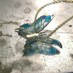 my first gold pendant with plique a jour