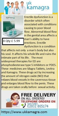 This is a common problem that affects almost 50% of the men of the older age group. About 5% of the men above the age of 40 years are chronically affected by this and unless they go for the right erectile dysfunction treatment it becomes difficult for them to enjoy their sex life at all. The most widespread therapies for ED are phosphodiesterase type 5 inhibitors or PDE5. These medicines are Silagra Tablets, Levitra and Kamagra.
