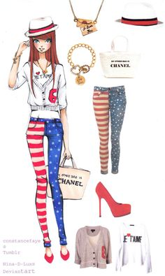 Red white and blue by Nina-D-Lux.deviantart.com on @deviantART