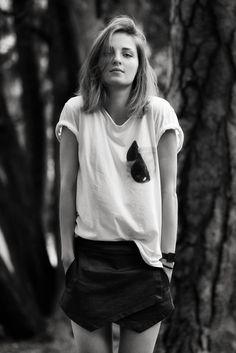 by Klaus Kraiger Black White Photos, Black And White, Portraits, V Neck, Celebrities, Tops, Women, Fashion, Moda