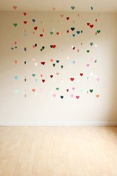 Whimsical floating heart garland