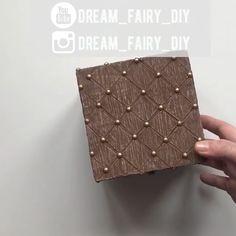 Diy Crafts For Home Decor, Diy Crafts Hacks, Diy Crafts For Gifts, Diy Arts And Crafts, Easy Crafts, Diy Gift Box, Diy Box, Creative Box, Creative Crafts