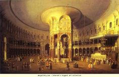 Canaletto. London: Ranelagh, Interior of the Rotunda. 1754. National Gallery, London, UK.