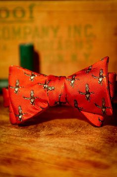 Bow Tie - Ducks Wildlife Series - Fire Red