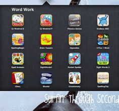 Surfin' Through Second: Free iPad Apps For Centers Teaching Technology, Educational Technology, Teaching Tips, Teaching Strategies, Word Work, In Kindergarten, Phonics, Elementary Schools, Elementary Music