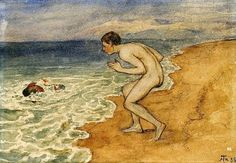 View On the beach by Hans Thoma on artnet. Browse upcoming and past auction lots by Hans Thoma. Hans Holbein, Caspar David Friedrich, Hans Thoma, Carl Spitzweg, Expressionist Artists, Art Of Man, Male Figure, Global Art, Over The Rainbow