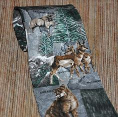 Neck Tie Silk Endangered Species North American Kingdom Bob Cat Deer Ram Eagle #Fashion #Style #Deal