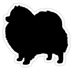'Black Pomeranian Dog Silhouette(s)' Sticker by Jenn Inashvili Black Pomeranian Dog Silhouette stickers, t-shirts, and electronics cases Pomeranian Silhouette and Silhouettes Pattern. Cute gifts for Pommie lovers. Spitz Pomeranian, Black Pomeranian, Pomeranians, Classy Trends, Save A Dog, Animal Silhouette, Beautiful Dogs, Amazing Dogs, Happy Dogs