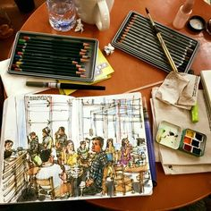 Urban Sketchers: Sketching in Starbucks