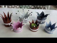 DIY canned crowns with GONIS - in shabby chic and vintage .- DIY canned crowns with GONIS in shabby chic and vintage style / upcycling creative - Diy Crafts To Do, Upcycled Crafts, Raised Flower Beds, Diy Cans, Diy Crown, Metal Garden Art, Diy For Kids, Shabby Chic, Vintage Fashion