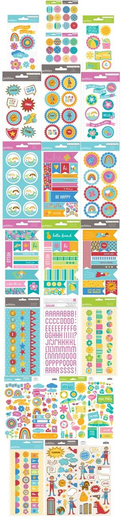 Free Party Printables! Superhero, Mermaid, Pool & Rainbow #Party themes and #scrapbook paper.