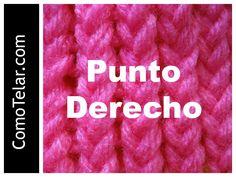 PUNTO DERECHO en Telar Circular - Loom Knit Stitch in Spanish