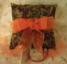 MOSSY  oak camoflauge wedding ring bearer pillow with by kits257, $12.99
