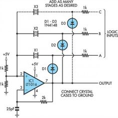 Switchable Output Crystal Oscillator Circuit Diagram