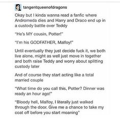 That last bit is complete Drarry