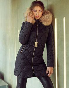 lipsy-long-quilted-padded-coat | 2016/17 new season long puffer