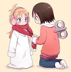 This anime is so funny hehehe! and cute Nichijou