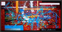 """Abstract Paintings, Contemporary Paintings, Abstract Art, Contemoporary Art, Modern Art  """"Happiness"""" by Artist Dora Woodrum http://www.NiceModernArt.com"""