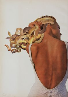 Cuts: Introducing the Age of Collage Medusa, 2011 Javier Piñón, from The Age of Collage Vol. Copyright Gestalten 2011 Javier Piñón, from The Age of Collage Vol. Art Inspo, Kunst Inspo, Collage Kunst, Collage Artwork, Art Collages, Love Collage, Surreal Artwork, Image Collage, Surreal Collage
