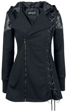 Light jacket of Gothicana by EMP with side lacing  - inside lining and hood  lining 137bfac5df
