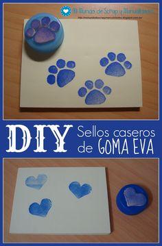 Mi Mundo de Scrap y Manualidades: ♥ DIY: Sellos caseros de goma EVA o foamy