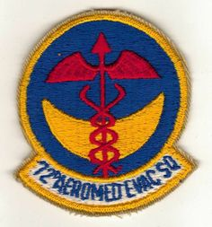 US Air Force - 72nD AEROMED EMC SQ, Medical Squadron Patch, circa 1960s