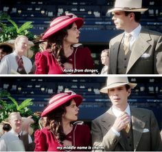 """My middle name is charm"" - Jarvis and Peggy #AgentCarter"