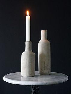 コンクリートセメントボトル型キャンドルホルダーキャンドルスタンド Diy Design, Candles, Bottle, Home Decor, Decoration Home, Room Decor, Flask, Candy, Candle Sticks