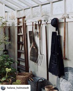 Garden Tool Shed, Garden Tool Storage, Storage Shed Organization, Shed Interior, Potting Sheds, Tool Sheds, Garden Shop, Inspired Homes, Garden Inspiration