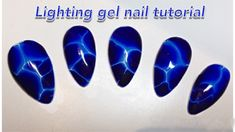 A quick and easy step by step gel nail tutorial on how to create marble lighting nails with blooming gel***OPEN ME*** Thanks for watching! Gel Nail Art Designs, Marble Nail Designs, Winter Nail Designs, Winter Nail Art, Marble Nails Tutorial, Gel Nail Tutorial, Lightning Nails, White Lace Nails, Sculpted Gel Nails