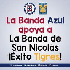 """Cruz Azul envía """"buena vibra"""" a los Tigres"""