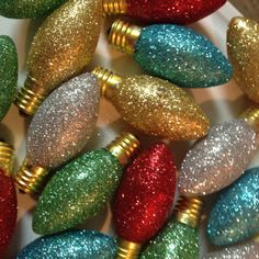 Christmas Glitter C9 lights