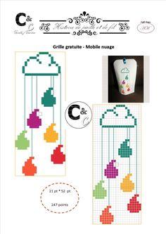 Grille gratuite point de croix - Mobile nuage
