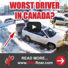 WORST. DRIVER. EVER. 97-point turn for parking job. Cyclists beware!  WATCH VIDEO: https://www.facebook.com/video.php?v=768358159879689 #bmw #baddriver #hitandrun #ohcanada