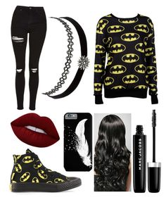 """""""Outings"""" by gervaise-kelly on Polyvore featuring Converse, Topshop, M:UK, Lime Crime, Charlotte Russe and Marc Jacobs"""