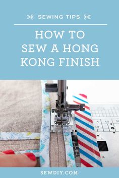 Learn how to sew a Hong Kong finish in this video tutorial and make the inside of your garments as beautiful as the outside.