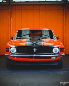 Orange horse - (Car available for purchase at Volo Auto)