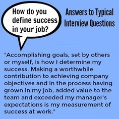 "Answering ""How do you define success?"" in your job interview. #interviews"