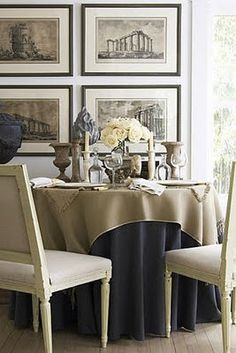 Charcoal & Beige...dining