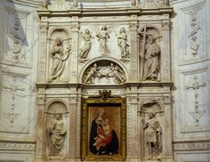 Siena, Duomo Santa Maria Assunta, Piccolomini-Altar von Andrea Bregno, Detail