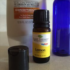 Easy peasy- about 40 ml of conditioner + 15 drops of lemon EO! #iloveplanttherapy