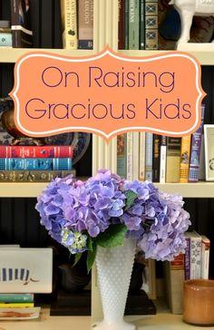 on raising gracious kids