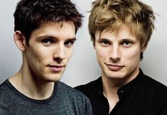 Colin Morgan and Bradley James - Merlin boys  Hotttttt British men! Who could wish for more.