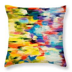 "Color Splash Throw Pillow by Art by Danielle.  Our throw pillows are made from 100% spun polyester poplin fabric and add a stylish statement to any room.  Pillows are available in sizes from 14"" x 14"" up to 26"" x 26"".  Each pillow is printed on both sides (same image) and includes a concealed zipper and removable insert (if selected) for easy cleaning."