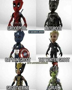 He's definitely an adorable character and those names just make sense...I think he should be a mini baby groot sidekick for each of those 😍 how funny and adorable... The bond that deadpool and groot may have! Hilarious and so much sarcasm. What do you guys think?