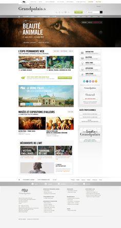 Refonte du site du Grand Palais - PARIS # Appel d'offre by Anthony Lepinay, via Behance