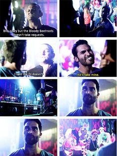 Teen Wolf season 3 - Derek breaks up the party